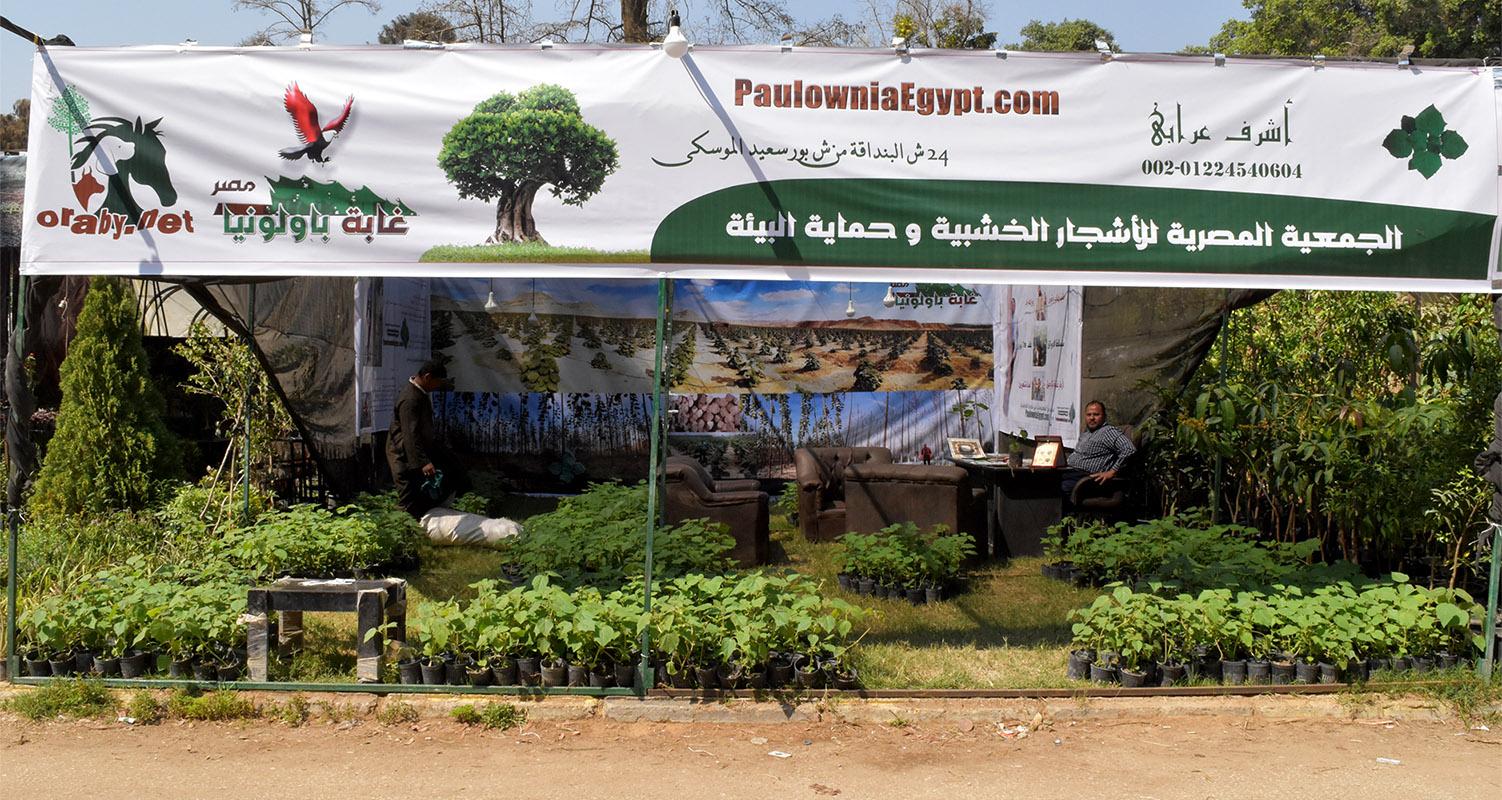 جناح الجمعية المصرية للأشجار الخشبية و حماية البيئة فى معرض الزهور 2018